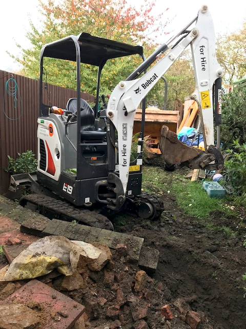 Duffy Mini Digger for hire