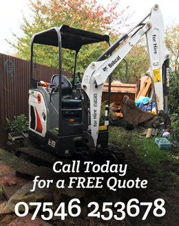 Duffy Mini Digger for hire - FREE Quote